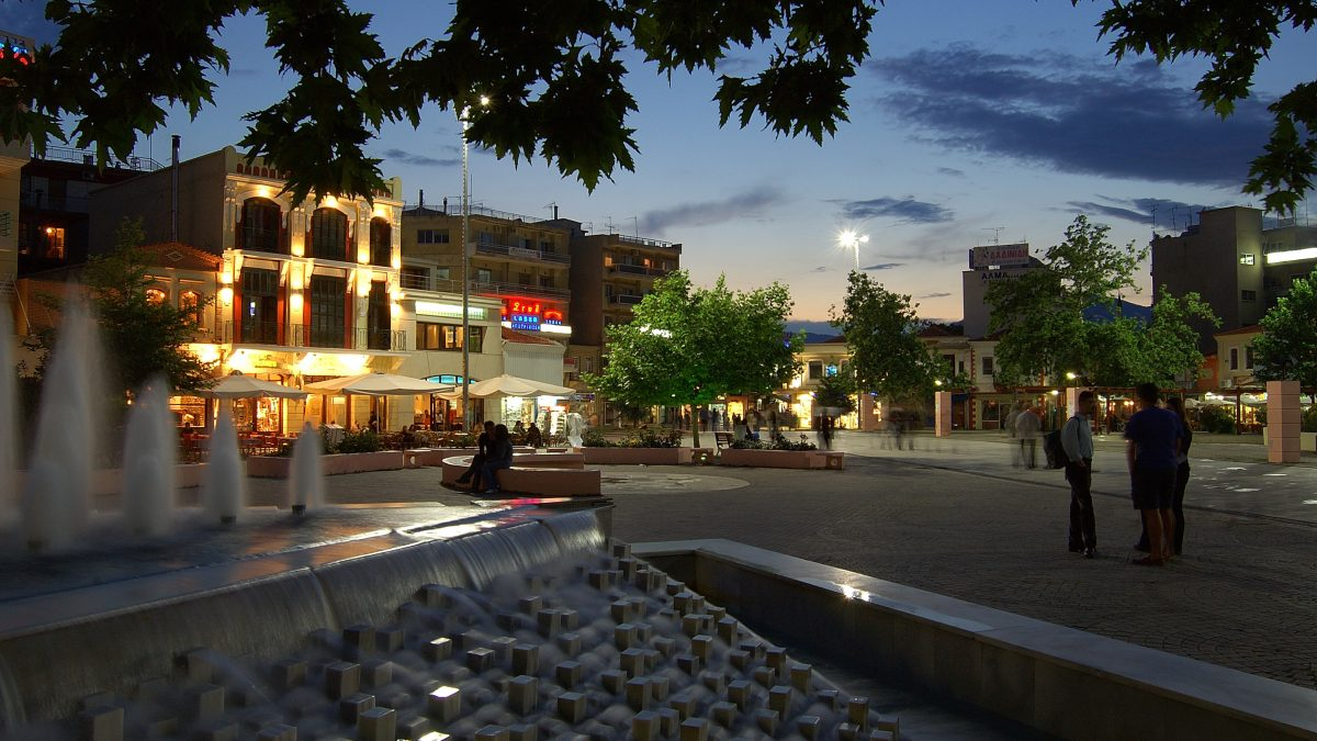 Komotini at night