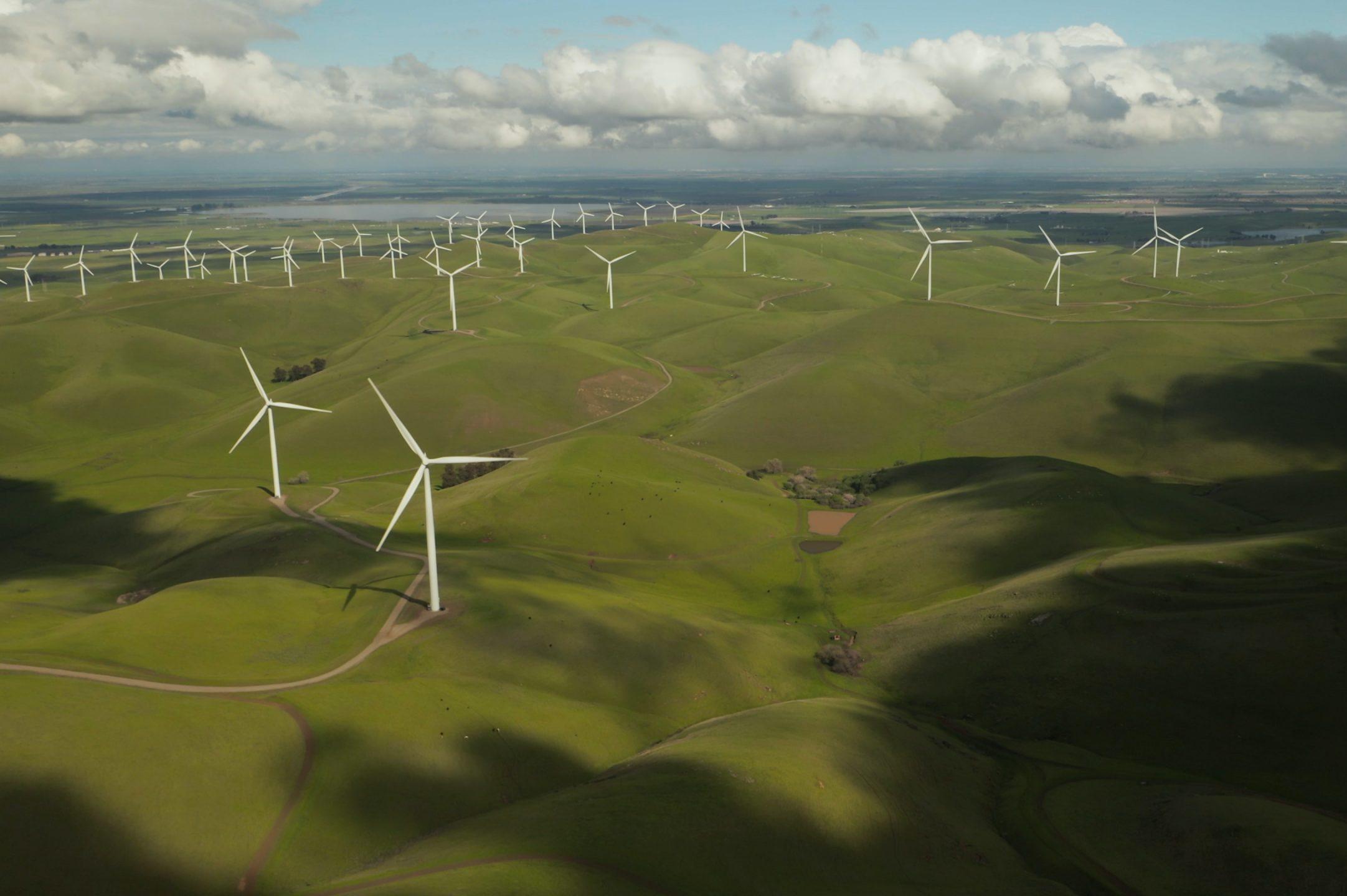 Wind power on meadows